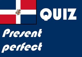 Spanish present perfect quiz or worksheet
