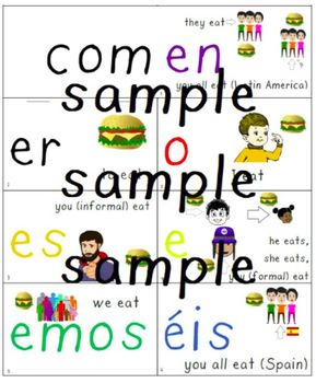 Spanish present tense flip books