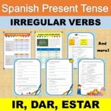 Spanish present tense, irregular verbs: IR, DAR, ESTAR