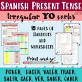 Spanish present tense, irregular verbs: PONER,  HACER, VAL