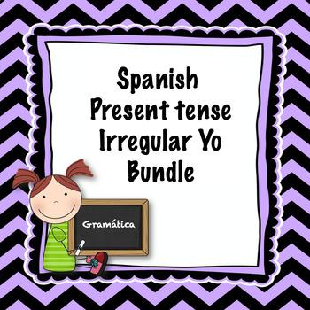 Spanish present tense irregular yo bundle
