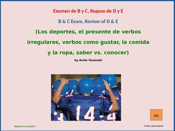 2nd year spanish asi se dice Repaso D & E lesson 3 on power point
