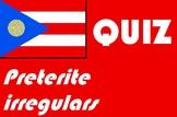 Spanish preterite (past tense) irregular quiz or worksheet
