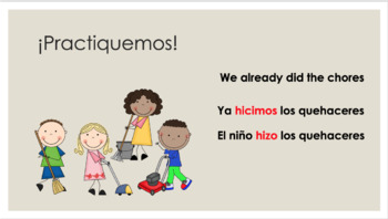 Spanish preterite tense