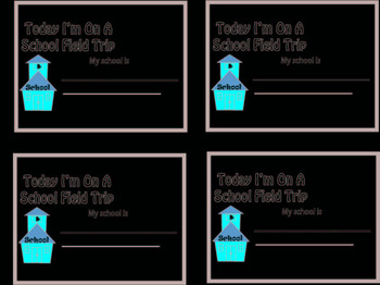 Field Trip Name Tags for Students