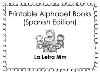 Spanish printable letter book (La Letra Mm)