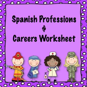 Spanish professions/careers worksheet