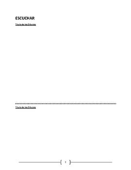 Spanish proficiency portfolio - ready for print shop!