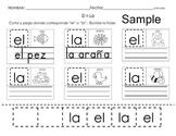 Spanish articulos con 'el' o 'la' worksheets (4 Wksts)
