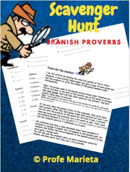 Spanish proverbs (scavenger hunt)