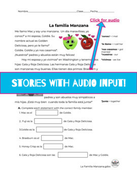 Spanish Reading Activities: Novice Bundle 1