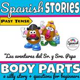 Spanish body parts story (past tense)