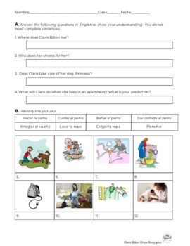 Spanish Reading: Chores