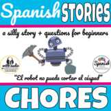 Chores around the house Spanish story with audio (distance