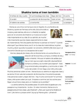 Spanish reading: Train travel
