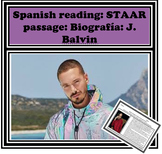 Spanish reading: STAAR passage : Biografia: J. Balvin