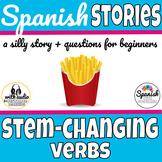 Spanish reading: Stem-changing (boot) verb vocab practice