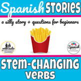 Stem changing verbs in Spanish story with audio (distance