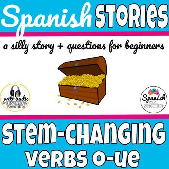 Spanish reading: Stem-changing (boot) verbs O-UE