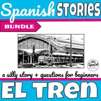 Spanish reading: Train travel (past/present bundle)
