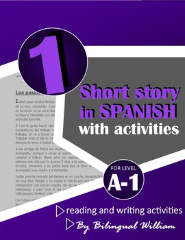 Spanish reading and writing activity (hobbies and frequency adverbs)