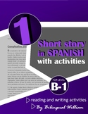 Spanish reading and writing activity (preterite and imperfect)