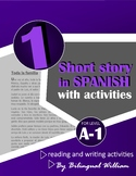 Spanish reading and writing activity (professions, relatives and possessive adj)