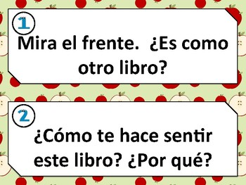 Spanish reading comprehension questions and framed responses