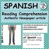 """Spanish reading comprehension - """"Pantalones embarrados"""""""