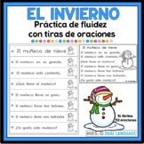 Spanish reading fluency practice.  Tiras de oraciones del