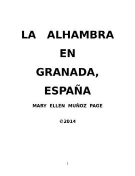 Spanish reading on the Alhambra