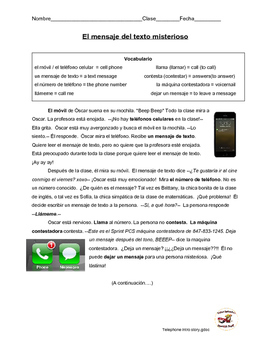 Spanish readings: technology, phones, and emotions (past/present tense)