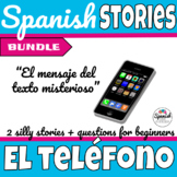 Spanish readings: technology, phones, and emotions (past/present tense) bundle