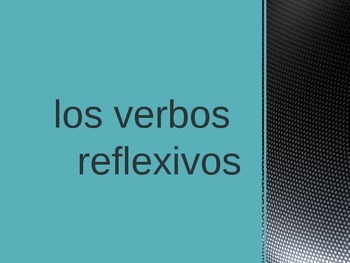 Spanish reflexive verbs notes and practice