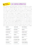 Spanish reflexive verbs word search