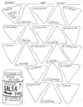 Spanish regular -AR verb practice ~verb conjugation ~translation NO PREP