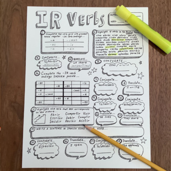 spanish regular ir verbs no prep spanish verb conjugation worksheet. Black Bedroom Furniture Sets. Home Design Ideas