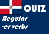 Spanish español regular -er verb present tense quiz / work