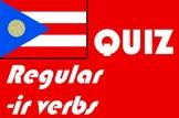 Spanish regular -ir verbs quiz or worksheet distance learning