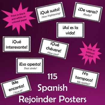Spanish rejoinder signs