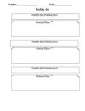 Spanish research note-taking/Notas de investigación