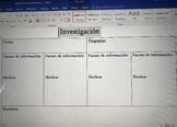 Spanish research organizer/organizador de investigación