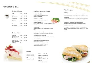 Spanish restaurant menu