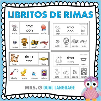 spanish rhyming words tarjetas de palabras que riman t. Black Bedroom Furniture Sets. Home Design Ideas