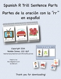 Spanish R Trill Sentence Parts for Sentence Flips & Sentence Construction Cards