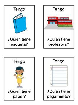 Spanish school  Tengo ... ¿Quién tiene ...?