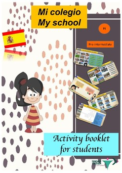 Spanish school description, mi colegio booklet for pre-int