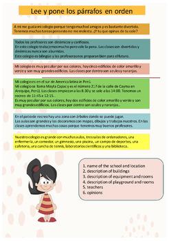 Spanish school description, mi colegio full lesson for pre-intermediate