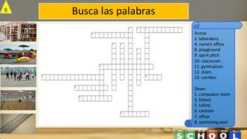 Spanish school description, mi colegio PPT for pre-intermediate