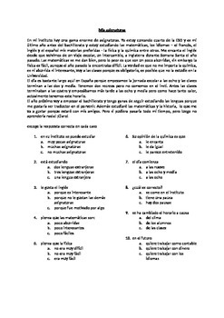 Spanish school subjects - las asignaturas - GCSE level